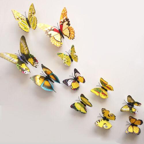 HIGH QUALITY 3D Multi-size Butterflies Art Wall Stickers DIY Wall Mural Decor