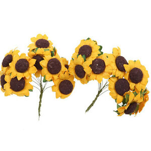 100pcs-lot-Mini-Artificial-Paper-Sunflower-for-Wedding-Decor