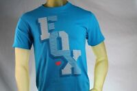 Fox Racing Blue Men's Graphic T-shirt W/ Gray fox Logo Size Small