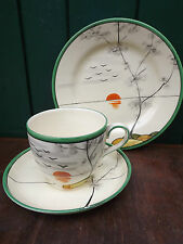 Vintage Art Deco Trio Hand painted Sun Set by Gibson & Sons Burslem