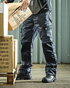 4251fa143eaaf0 Image is loading DICKIES-EVERYDAY-CARGO-WORK-TROUSERS-GREY-BLACK-SIZES-