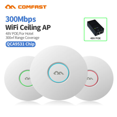 High Power 300Mbps WiFi Ceiling Wireless Access Point Router Indoor Wall AP CFUS