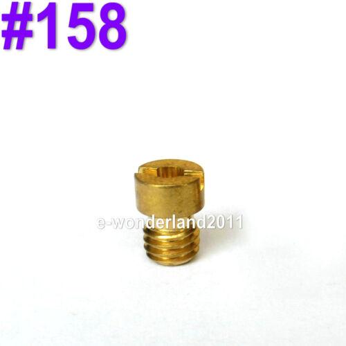 Brass Main Jet Round Slot Head Type for Mikuni Carburettors Carb Size 70 ~ 168