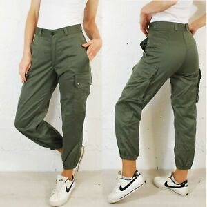 d876532063 VTG Unisex High Waisted Slim Fit Army Cargo Camo Pants / Trousers ...