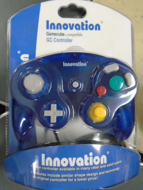 Brand New Controller for Nintendo GameCube Wii Clear Blue or Purple Game Cube