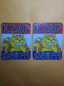 Vintage KZAP 98.5FM Sticker