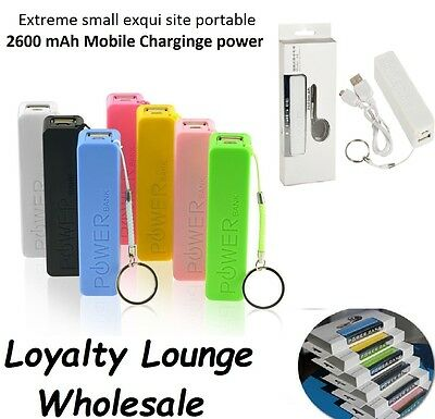 Lot Of 10 Power Bank 2600 Portable Backup Battery Charger In Retailbox Mix Color