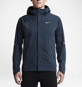 Mens Nike Shieldrunner Squadron Blue Running Jacket