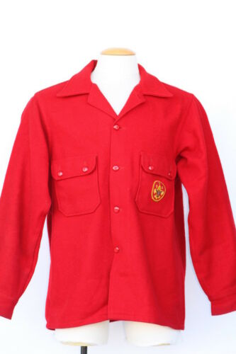 Vintage Official Boy Scout Troop Leader red wool j