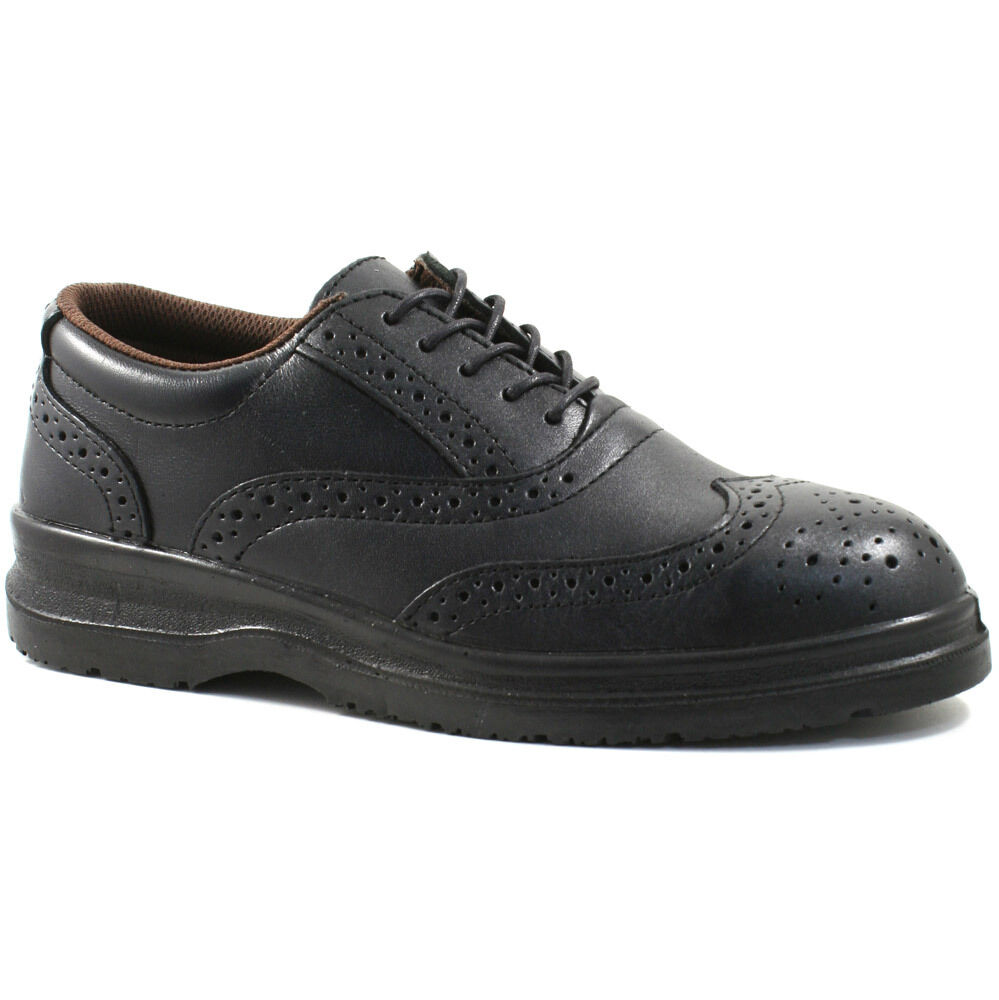 MENS GRAFTERS LEATHER SAFETY M776A SHOES SIZE BROGUE BLACK WORK M776A SAFETY KD a26af6