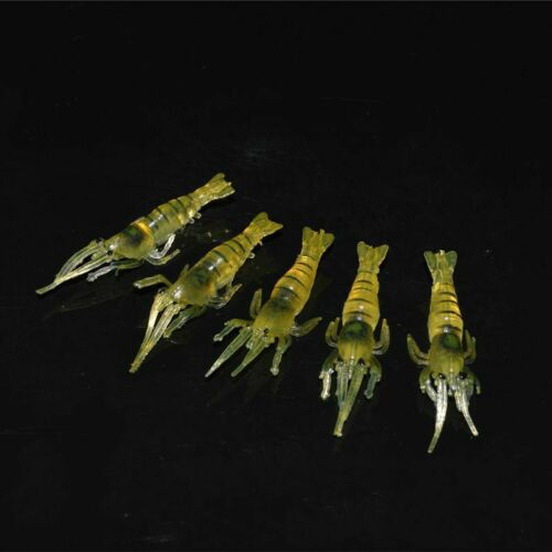Artificial Shrimp Bait No Hook Sea Fishing Soft Lure Silicone Baits 20Pcs//Lot