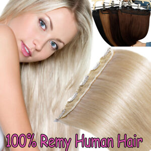 Straight-Seamless-One-Piece-Clip-in-Thick-Remy-Human-Hair-Extensions-16-24-034-USPS
