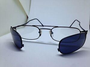 HOSEKI-occhiali-da-vista-sole-con-clip-on-vintage-uomo-man-glasses-lunettes
