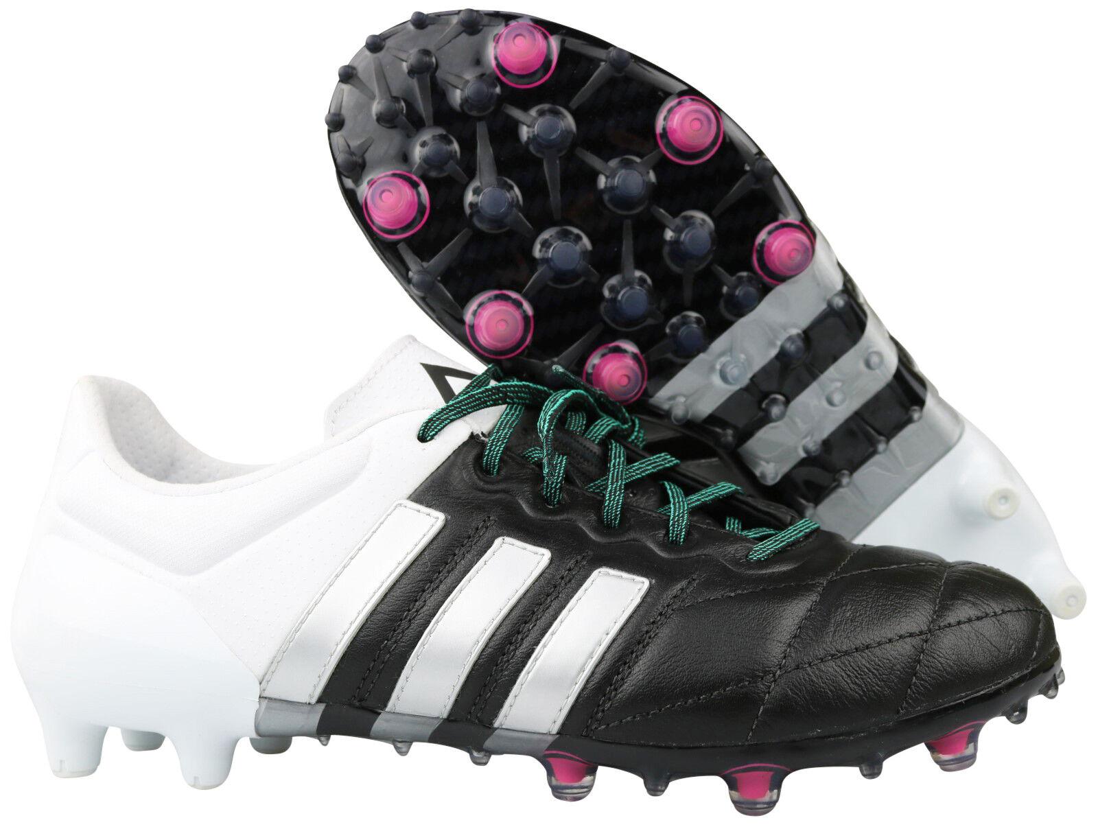 Adidas Ace 15.1 FG AG botas de fútbol levas af5095 cuero negro Gr. 39 1 3 nuevo