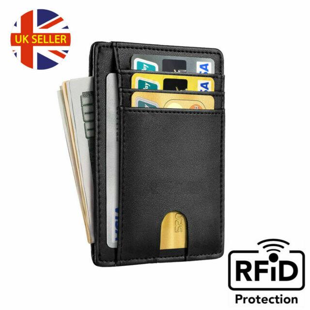 EG/_ New Fashion Men/'s Leather ID Credit Card Coin Holder Billfold Wallet Money C