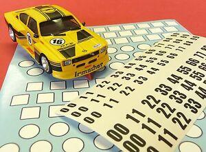Slotcar-STARTNUMMERN-Aufkleber-fuer-1-32-bis-1-24-034-Uberlackierbar-034-85991