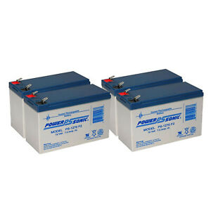 Details about Power-Sonic 4 Pack - 12V 7Ah UPS Battery for APC GP1270F2