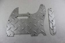 Satin Aluminum Diamond Plate Tele Pickguard Set Fits Fender Telecaster  USA