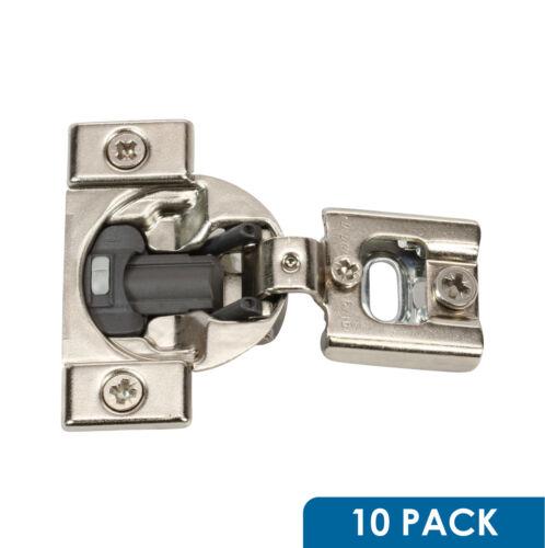 "10x 105 Deg 5//16/"" Overlay Soft Close Press in Compact Cabinet Hinge 38N358B.05"