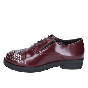 womens shoes FRANCESCO MILANO 2 (EU 35) elegant burgundy leather BX335-35
