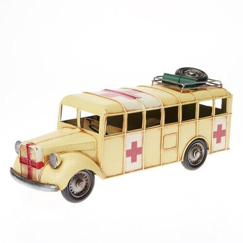 USA School Bus Blechmodell Metall Modell Militär Krankenwagen Amerika Schulbus