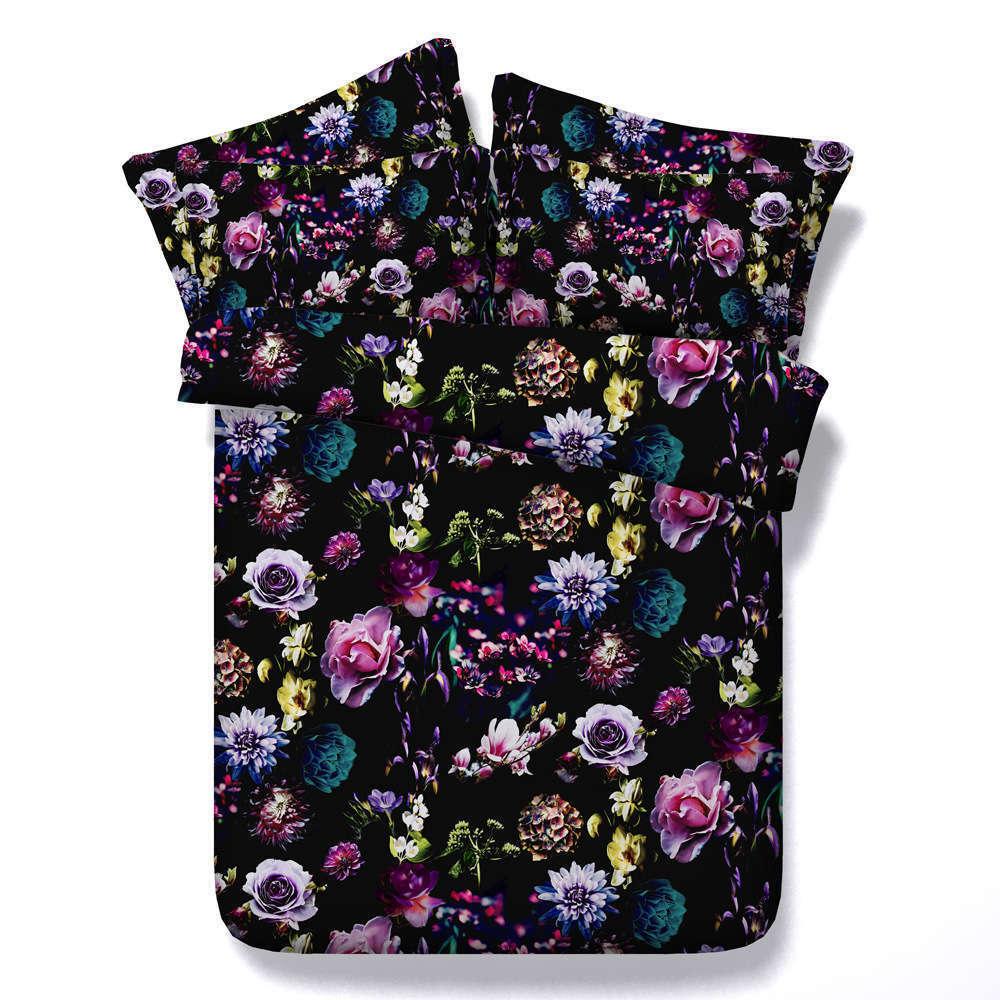 Coquettish Flower 3D Druckening Duvet Quilt Will Startseites Pillow Case Bettding Sets