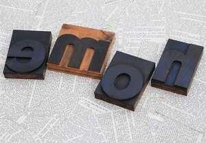 034-HOME-034-Holzbuchstaben-Druckbuchstaben-Stempel-Lettern-Liebe-Hochzeit-Vintage