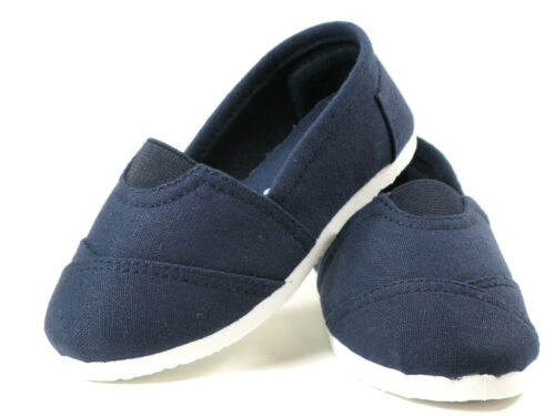 Sizes 5 6 7 8 9 10 SlipOn Flats for Baby Toddler Girls or Boys Canvas Shoes