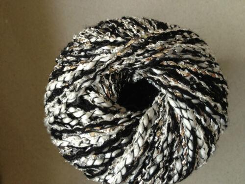 5 PELOTES LUREX noir et gris fabriqué en FRANCE