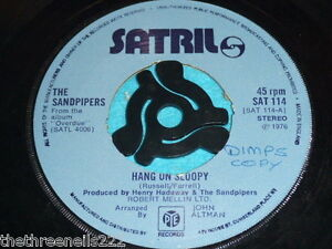 VINYL-7-SINGLE-HANG-ON-SLOOPY-THE-SANDPIPERS-SAT-114