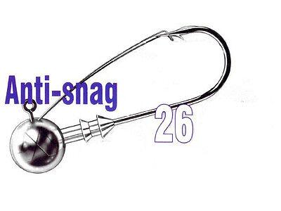 Mustad Anti-Snag Jig Heads / sizes: #1/0 - #6/0 - 3-15g / 20pcs. per pack!