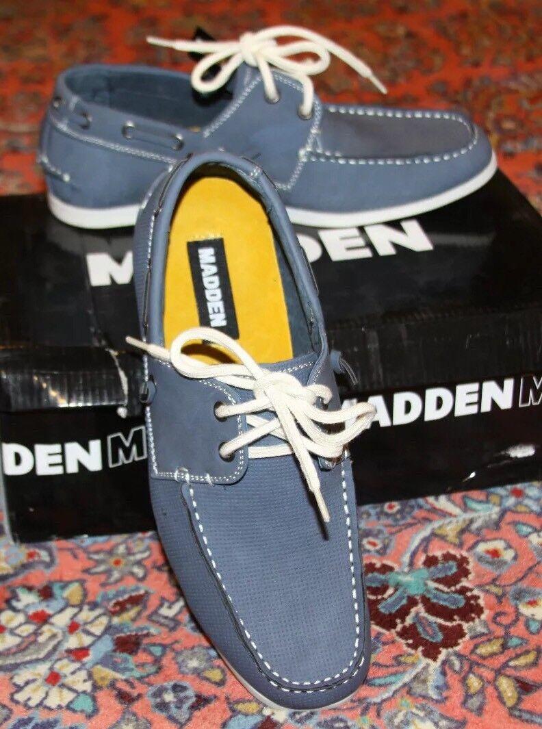 1cee4503918 STEVE MADDEN M-GAMEON blueE NUBUCK SLIP-ON SLIP-ON SLIP-ON SHOES SZ ...