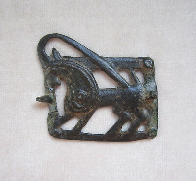 Ancient PARTHIAN BRONZE BELT BUCKLE, circa 150 B.C - A.D. 225