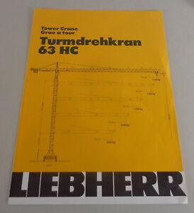 Data Sheet / Technical Description Liebherr Tower Crane 63 HC From 01/1983