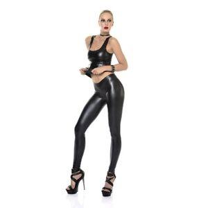 Patrice-Catanzaro-Vera-Leggings-sexy-moulant-en-wetlook-laque-noir-mat