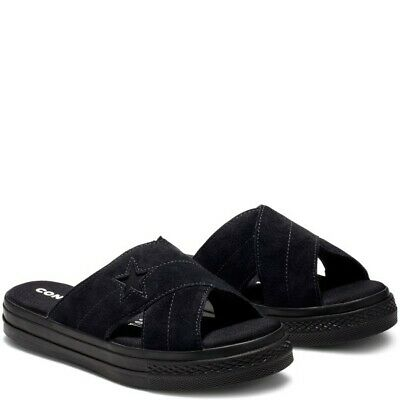 Converse One Star Sandal 564149C Black, Women's Sports Sandals Slides Slipper | eBay