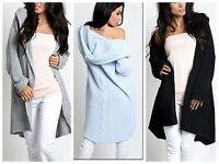 Women Cardigan Jumper Knitwear Sweater Hoodie Oversize NEW 8 10 12