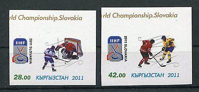 Kirgisien 660/61 B Postfrisch / Eishockey ................................1/2854 StäRkung Von Sehnen Und Knochen
