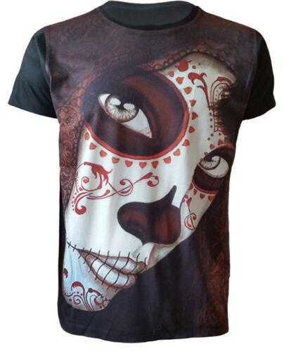 MUERTOS DIAS T-Shirt,Tattoo//Rock//Metal//Day Of Death//Mexican Sugar Skull//Top//Tee