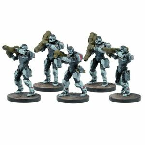 Mantic-Warpath-Enforcer-pesado-equipo-de-soporte-sin-Caja-Deadzone-lanzador-de-misiles