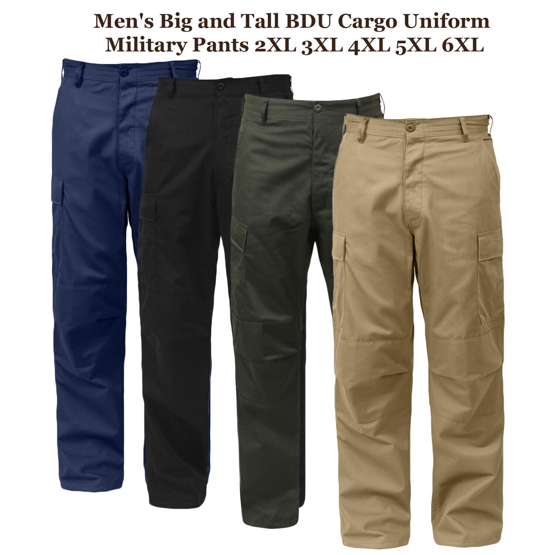 Big Man 3XL 4XL 5XL 6XL BDU Mens Cargo Uniform Tactical Pants