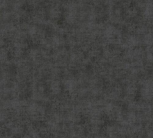 livingwalls Neue Bude Tapete Vlies 37417-1 Einfarbig Struktur schwarz taupe 2,7