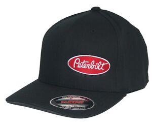 Image is loading Peterbilt-hat-cap-fitted-flexfit-curved-bill-Trucker- 2cf09a9f7bd