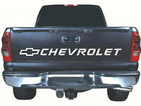 Fits Chevrolet Tailgate 52 X 4 White Vinyl Sticker Decal Rear Chevy Silverado