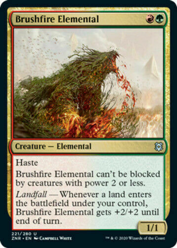 Brushfire Elemental  x4 mint 4 cards Magic the Gathering MTG Zendikar Rising