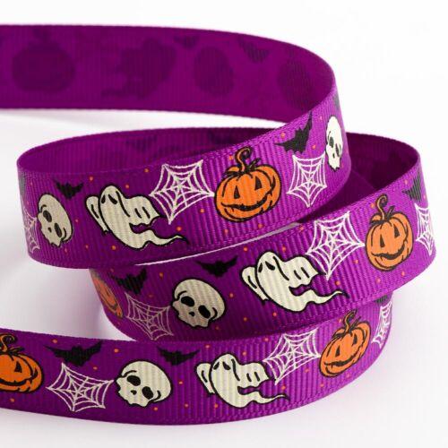 5m Grosgrain Halloween Ribbon 5 Metre Reel
