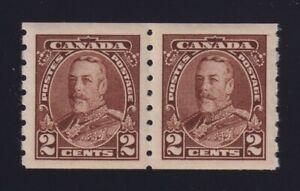 Canada-Sc-229-1935-2c-brown-KGV-Pictorial-Coil-Pair-Mint-VF-NH