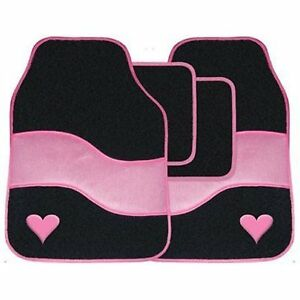 en voiture noire coeur rose tapis de sol de luxe tapis. Black Bedroom Furniture Sets. Home Design Ideas