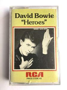DAVID-BOWIE-HEROES-RCA-Cassette-PK12522-RARE