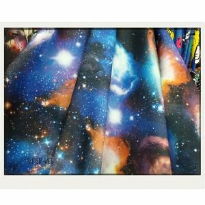 Galaxy space thick fabric cloth for clothes jacket dress for Space pants fabric